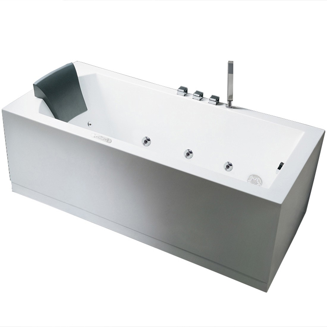 Ariel Bath AM154JDTSZ-R-59 Platinum Whirlpool Bathtub - 59\