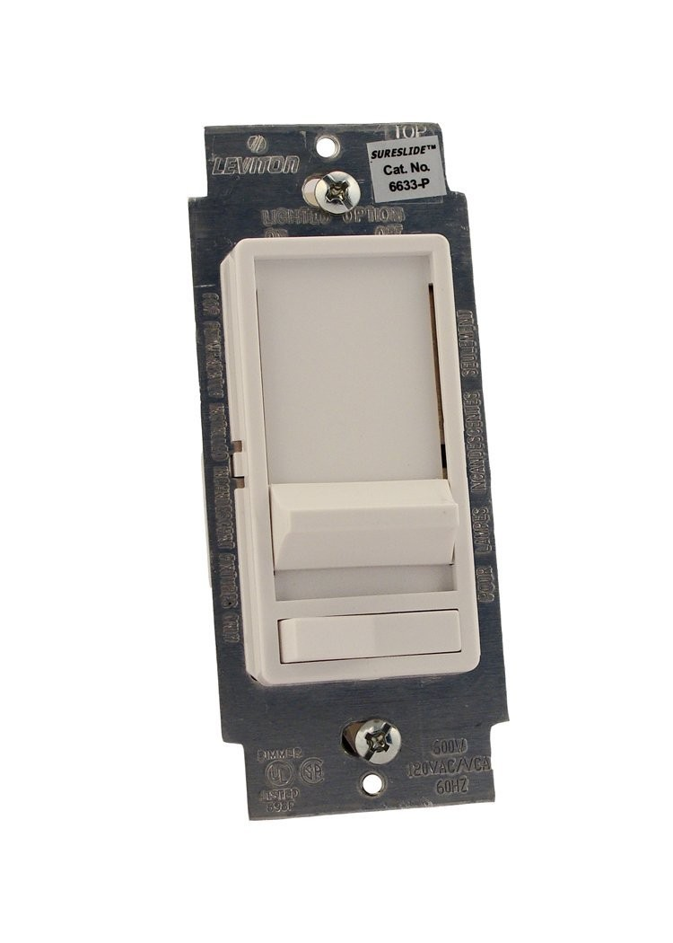 Leviton 6633-PLW SureSlide 3-Way Dimmer Switch