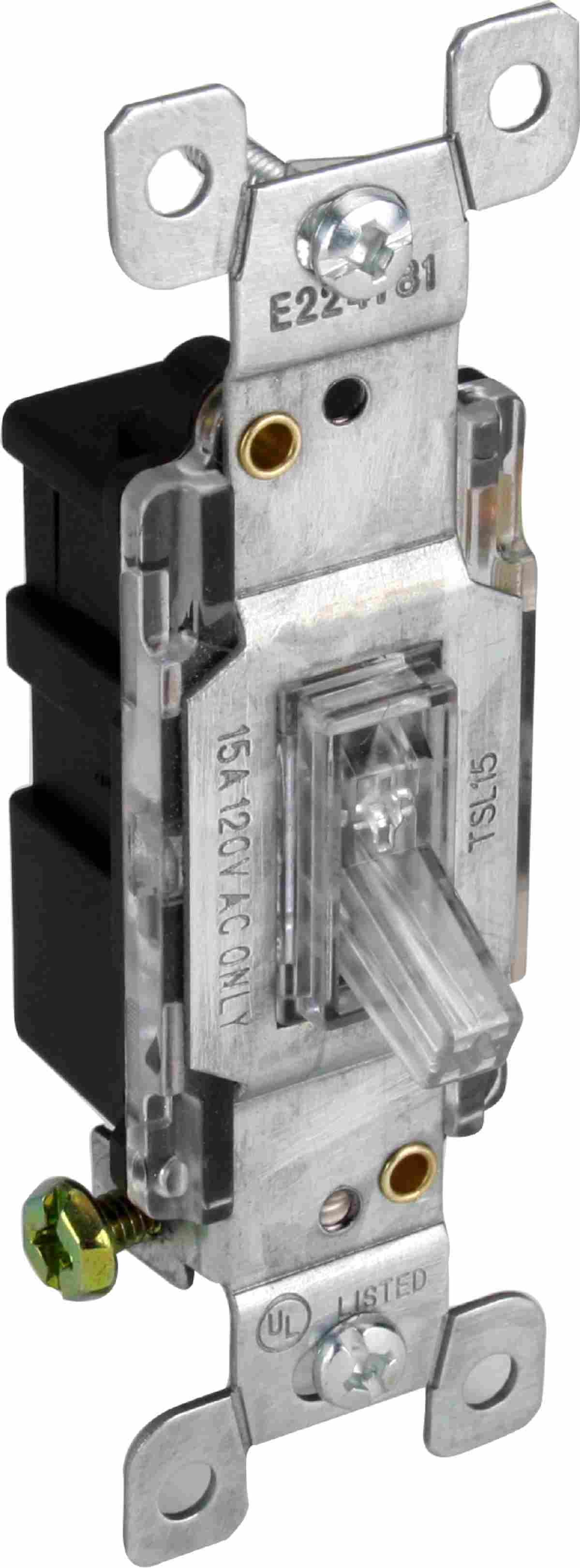 Orbit Tsl15 Cl Light Switch 15a Single Pole Toggle W Pilot Commercial Clear